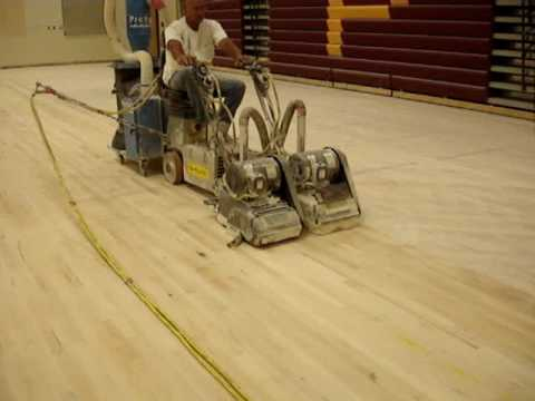 - Gym Floor Rider Sander ProVac Vacuum Demo - YouTube