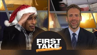 Stephen A. Smith trolls Cowboys fans in hilarious Christmas fashion | First Take | ESPN