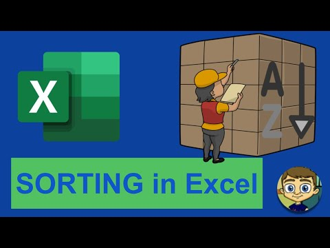 Sorting in Excel - 2018 Excel Tutorial