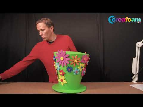 Tutorial: how to make a foam hat Mad hatter style