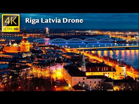 Riga, Latvia - 4K UHD Drone Video