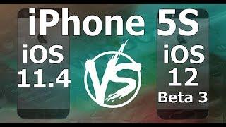 Speed Test : iPhone 5S - iOS 12 Beta 3 vs iOS 11.4 (iOS 12 Public Beta 2 Build 16A5318d)