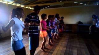 Amerindian Children Dancing in Guyana