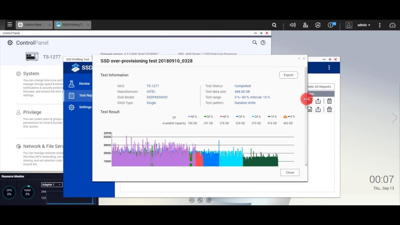 QNAP SSD Profiling Tool : QLC(INTEL NVMe) vs MLC(KINGSTON NVMe)