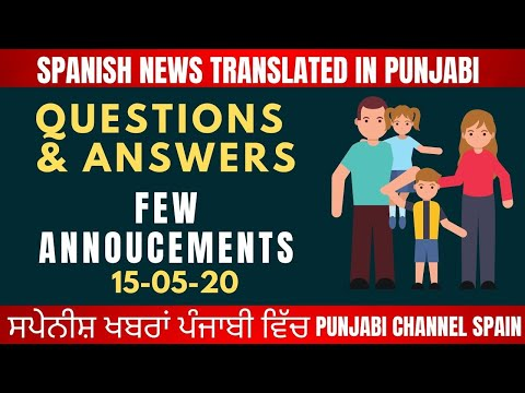 15-05-20 Questions & Answers l Few Annoucementsl Rough Tv Spain l Spanish News Translated in Punjabi