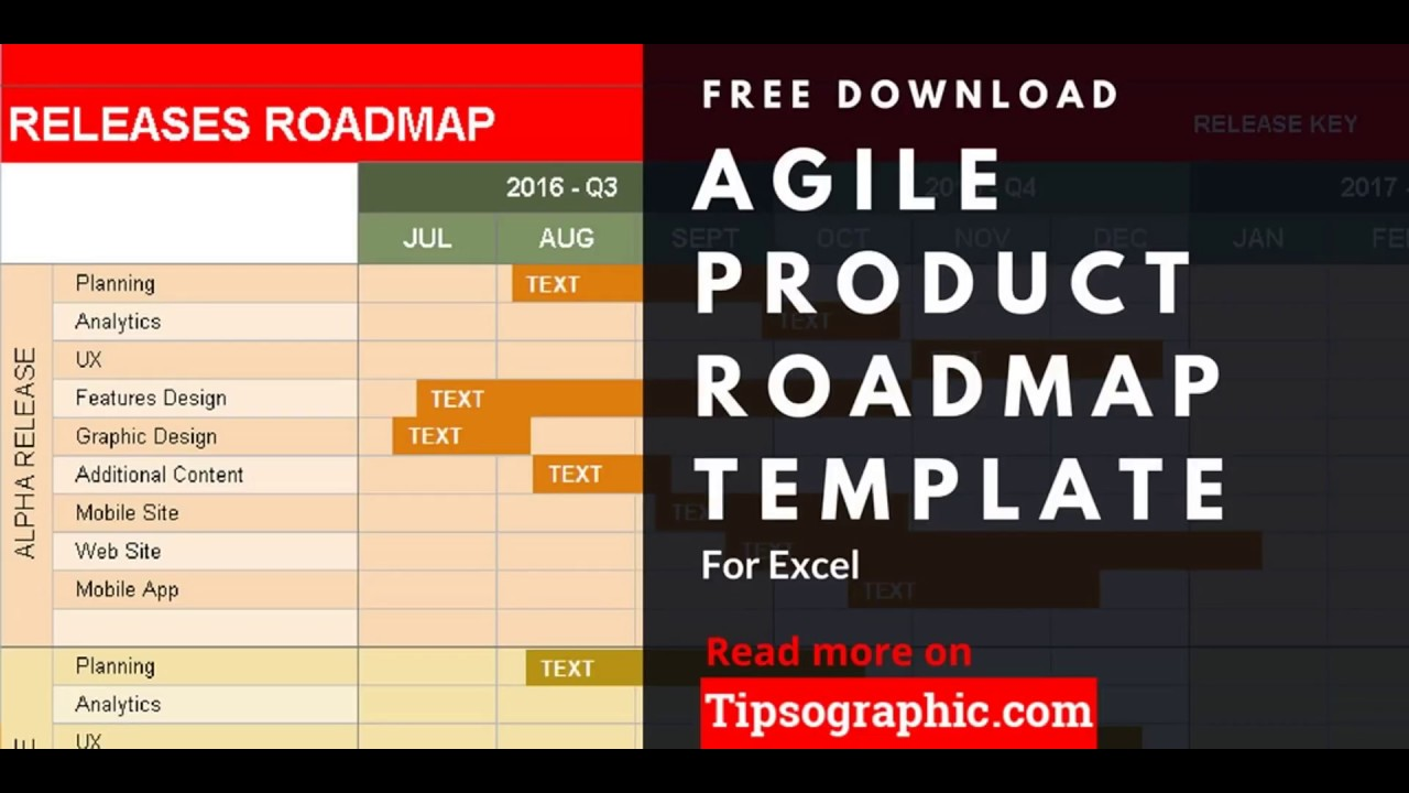 Agile Product Roadmap Template For Excel Free Http Bit Ly 2am7q2x