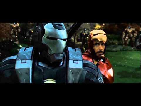 Ironman and War Machine Drone Fight Scene FULL HD