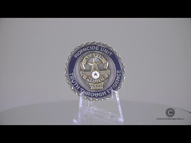 Custom Police Challenge Coins - APD Homicide Coin