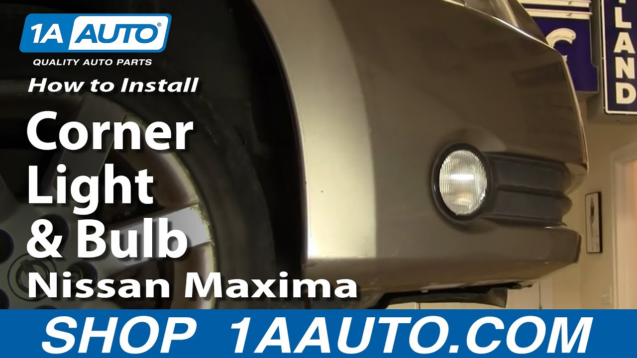 how to replace corner light 04-06 nissan maxima