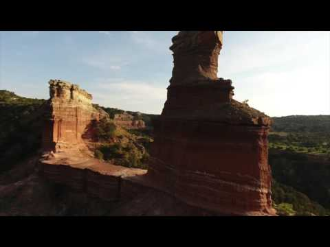Palo Duro Canyon- Lighthouse Rock Drone View