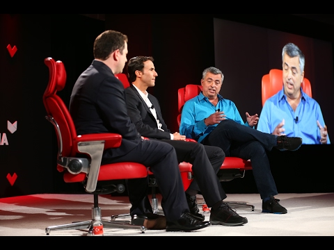 Apple SVP Eddy Cue and producer Ben Silverman at Code Media