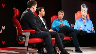 Apple SVP Eddy Cue and producer Ben Silverman at Code Media 2017