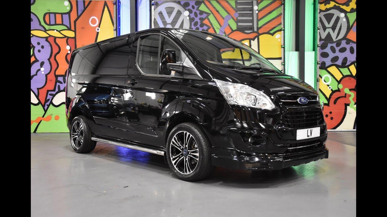 Ford Transit Custom L-Sport Shadow Black Spec Walkround M-Sport - YouTube
