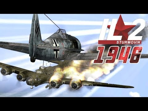 IL-2 1946: B-17 Combat Wings attacked by Luftwaffe Fighters