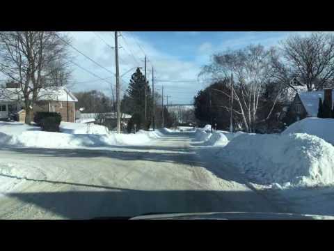 A Sunny Winter Drive in Orillia, Ontario, Canada