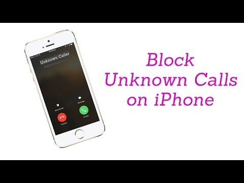 How to stop blocked or unknown calls on iphone