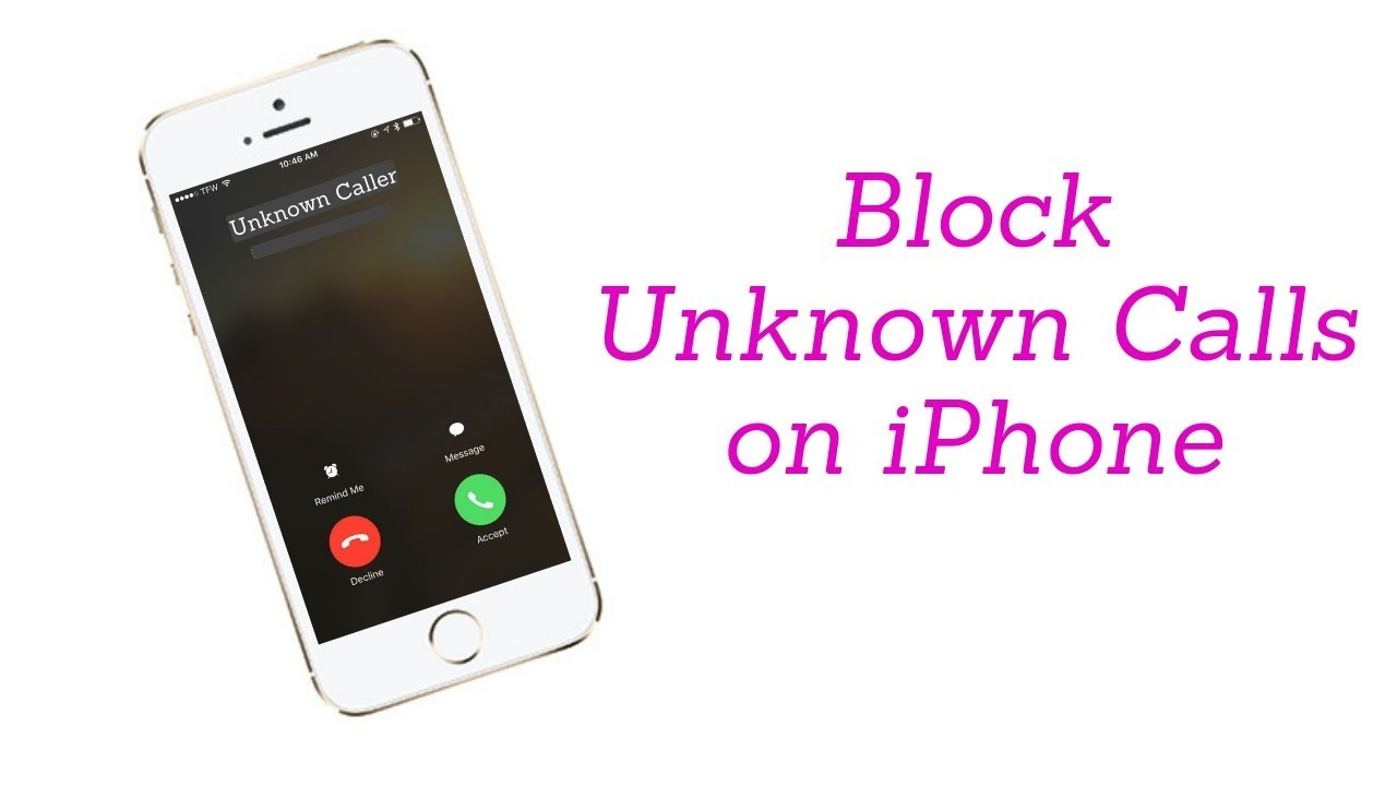 How do i fix unknown caller id on my iphone