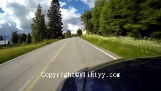 Midsummer in Finland: 21.6.2014 Lappajärvi Ylipää Autokameravideo