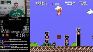 (21:51.228 w/out loads) Super Mario Bros.: The Lost Levels Warpless 8-4 (FDS, Mario) speedrun