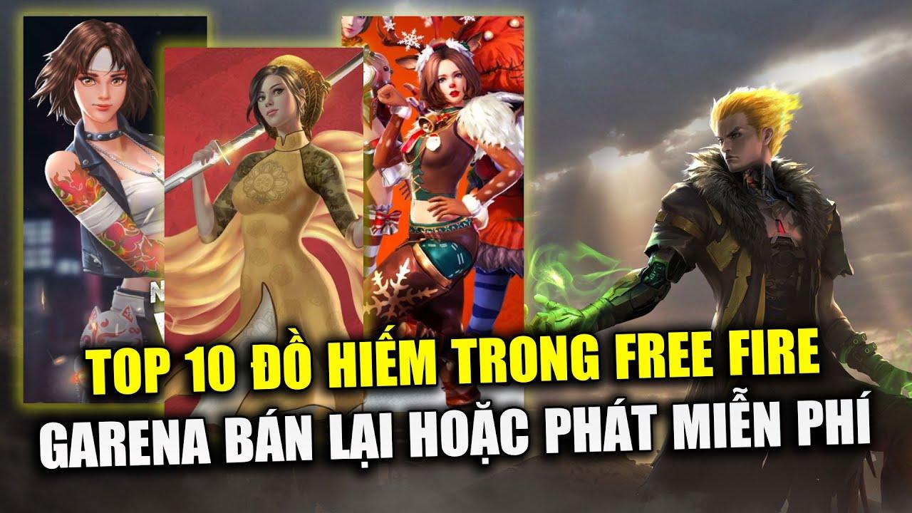 Free Fire | TOP 10 Đồ Hiếm Garena Từng Bán Hoặc Phát Miễn Phí Trong Free Fire | Rikaki Gaming