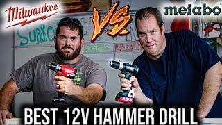 Best 12 Volt Hammer Drill Tool Test - Milwaukee Fuel VS Metabo PowerMaxx
