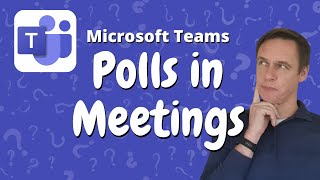 How to add a Poll to a meeting in Microsoft Teams