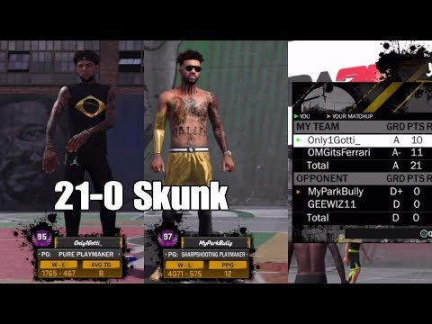 NBA 2K18 21 Skunk Annoying Huh On 2s At MyPark 21-0 On His Live Stream *MUST WATCH*