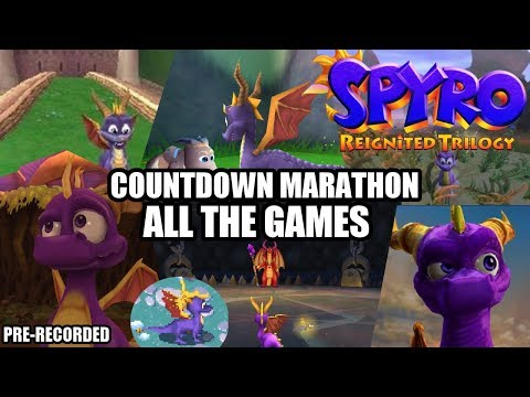 Spyro: Reignited Trilogy Countdown Marathon - 24x7 TV of Many Spyro Games! [Read Description]