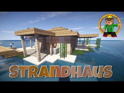 minecraft tutorial wie baue ich ein sch nes haus 9 strandhaus. Black Bedroom Furniture Sets. Home Design Ideas