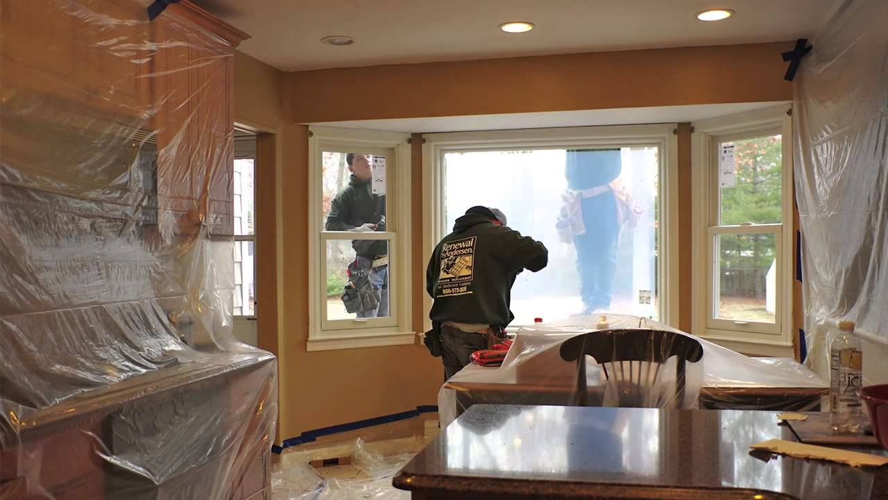 Island In Kitchen Or Not Picture Window Installation - Timelapse - From Renewal By