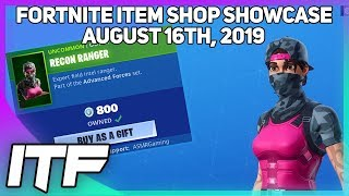 Fortnite Item Shop *NEW* RECON RANGER SKIN + WRAP! [August 16th, 2019] (Fortnite Battle Royale)