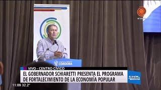 Schiaretti presentó programa de economía popular