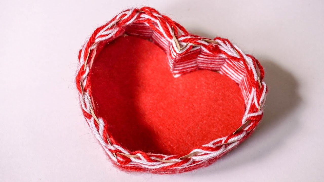 how to make a paper heart box
