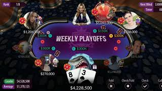 1ST Place! Zynga Poker Weekly Tournament (Texas Holdem)