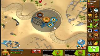 MOAB Graveyard: The Lazy Man's Strategy (Bloons Monkey City)
