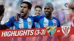 Resumen de Málaga CF vs Athletic Club (3-3)