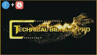Golden Particle Intro - Kinemaster Tutorial    PixelLab + Kinemaster