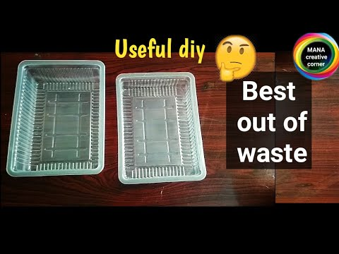 Waste Disposable plastic Cookies Container craft idea#Best out of waste#waste material reuse idea#