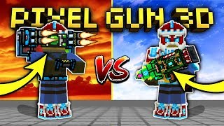 ALL EXOSKELETONS VS. CYBER SANTA SET!!   Pixel Gun 3D [New Update]