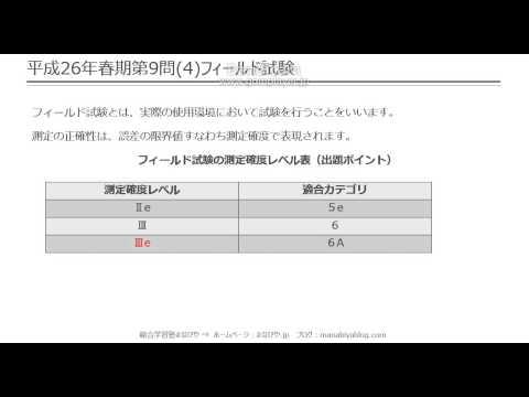 【工担・総合種】平成26年春_技術_9-4(フィールド試験)