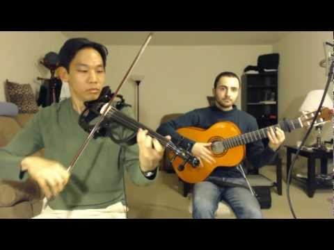 James Bond 007 / Nancy Sinatra - You Only Live Twice (guitar and electric violin cover video)
