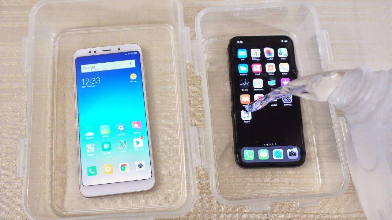 Xiaomi Redmi 5 Plus vs iPhone X - WATER Test!