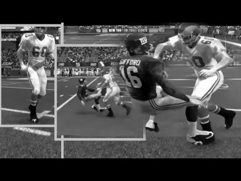 FRANK GIFFORD VS CHUCK BEDNARIK SICK MADDEN HIGHLIGHTS