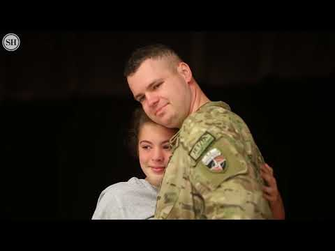 Compilation Soldier coming home U S  Marine Home from Deployment Surprises Mom at Work for Christmas