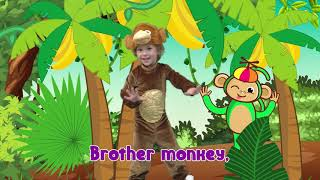 Monkey Banana-Baby Monkey | Animal Songs | Lisa Kids Show