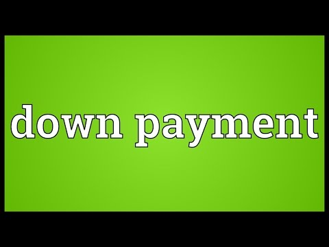 Down payment meaning in hindi