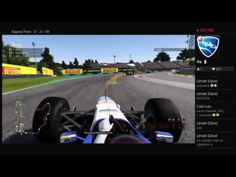 F1 2017 Karrier S1 E6 Monaco Williams PS4 Live HUN +Multiplayer