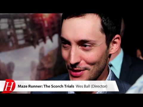 Wes Ball At The MAZE RUNNER: THE SCORCH TRIALS Premiere