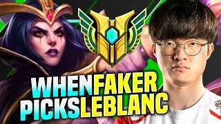 FAKER DESTROYING WITH LEBLANC! - SKT T1 Faker Plays Leblanc vs Pantheon Mid! | Season 2020 KR SoloQ