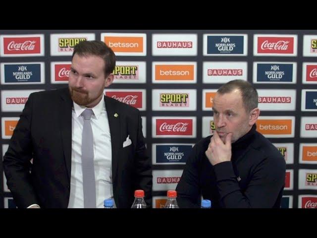 Presskonferens: Luleå - Färjestad (22/2)